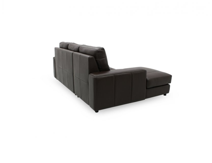 Tres L-Shape Leather Sofa with High Backrest