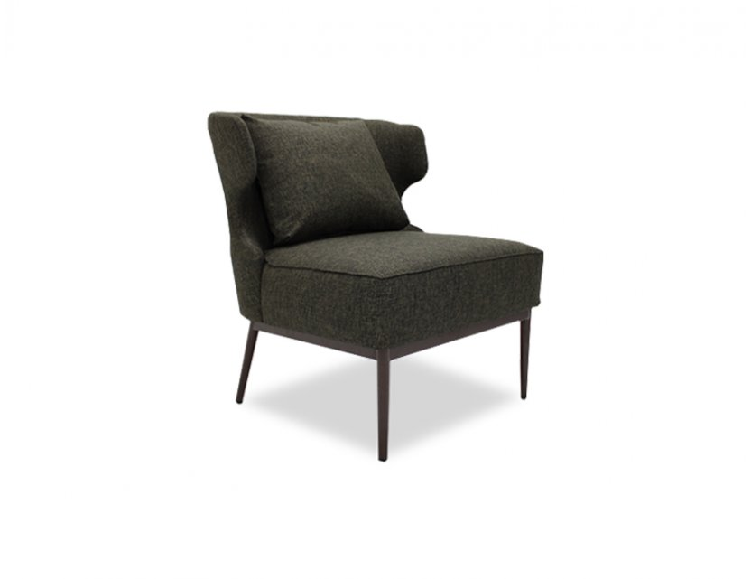 Wing Armchair with Seat Cushion