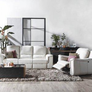 Concerto Motorised Recliner Leather Sofa