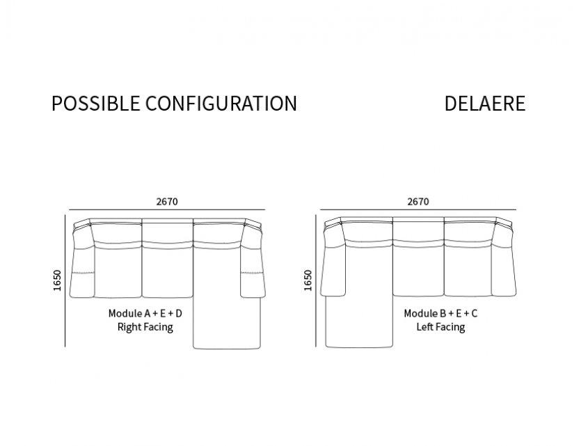 Delaere Leather Motorised Recliner Sofa Package