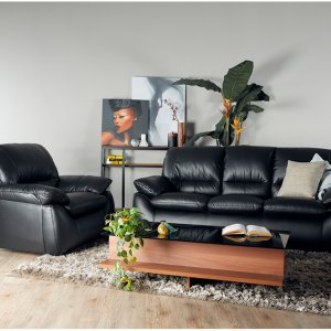 Dove Half-Leather Sofa