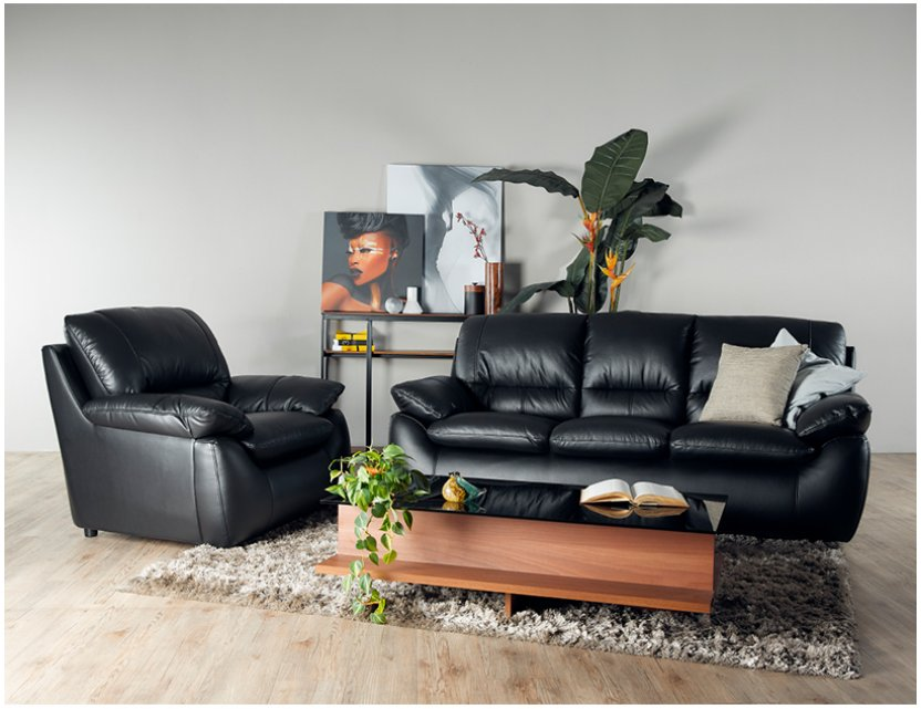 Dove Leather Sofa Package