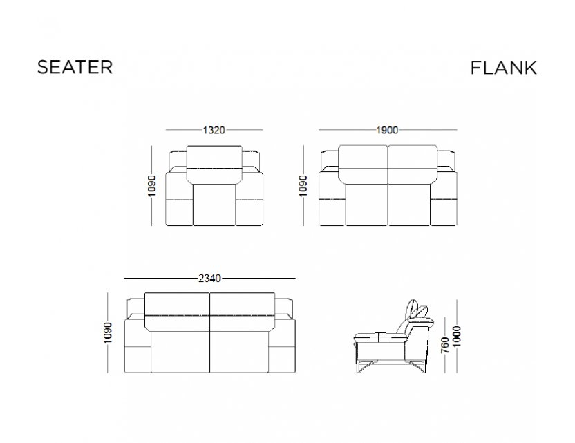 Flank Leather Sofa Package