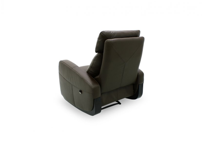 Glide 1 Seater Leather Armchair Recliner Sofa