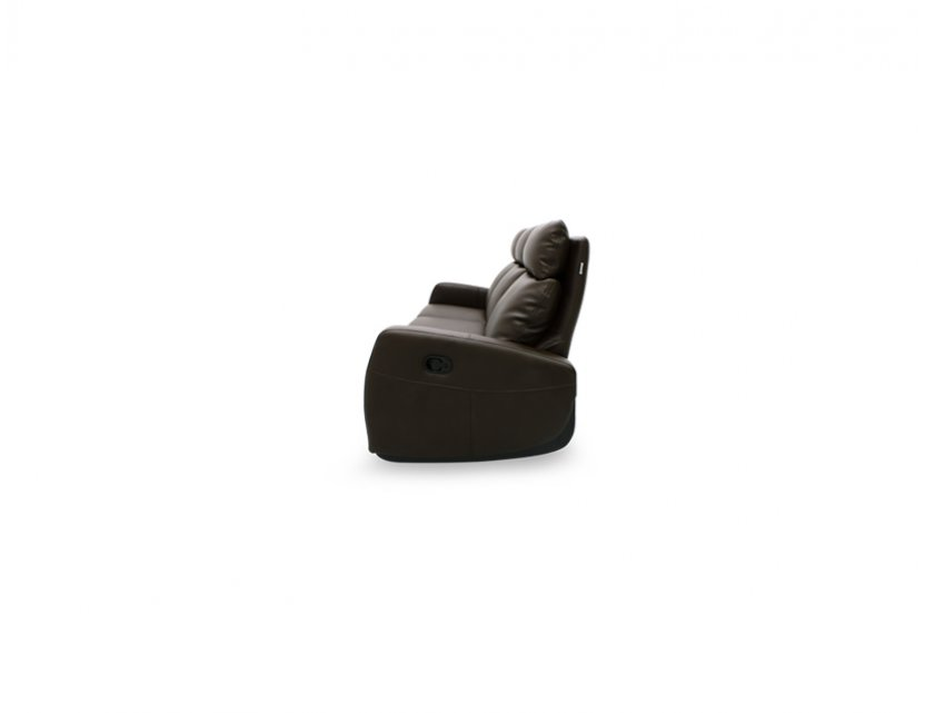 Glide 3 Seater Leather Armchair Recliner Sofa