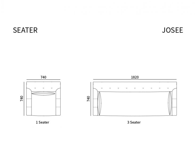Josee Fabric Sofa Package