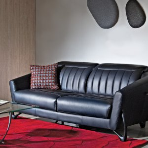 Mase Leather Sofa with Adjustable Headrest (Home Package, Top up)