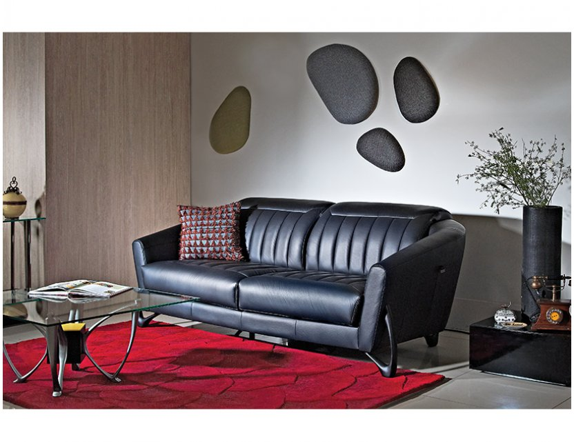 Mase Leather Sofa with Adjustable Headrests