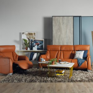 Sho Leather Motorised Recliner Sofa Package